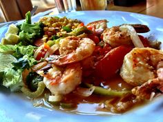 Camarones al mojo de ajo at Pacifico Restaurant, Calistoga, CA
