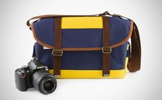 The Chromonaut Camera Bag aka the Canter Bag. vintage-style camera bag, handmade in Japan.