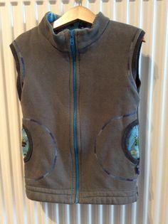 Sleeveless Jacket, adapted from Ottobre pattern. In sweater fabric, lined.
