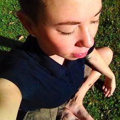 Stretching in the park in a miniskirt. As you do. #sun #sunworshipper #sunrise #summer #ootd #wiwt #femme #undercut #yoga #tattoo #WhatLLworeToday