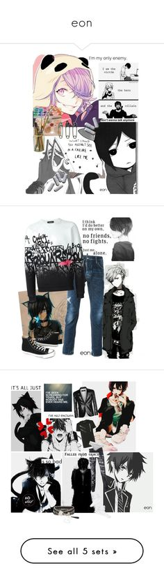 """""""eon"""" by archfiend ❤ liked on Polyvore featuring art, Dsquared2, Converse, men's fashion, menswear, Moschino, Henri Bendel, Therapy, Lucky Brand and Rails"""