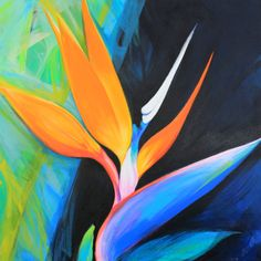 "For Sale: Bird of Paradise Flower by Mary Maguire | $500 | 24""w 24""h 