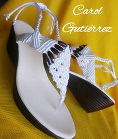 Paracord, Slippers, Beads, Sandals, Shoes, Fashion, Handbags, Shoe, Knit Bag