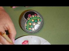 How to paint dot mandalas- #20- Joyful Hearts - YouTube