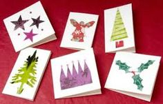 Recycled Paper Cards - 16 Handmade Holiday Cards on HGTV Send Christmas Cards, Holiday Cards, Beautiful Christmas Greetings, Handmade Christmas, Christmas Crafts, Free Printable Gift Tags, Free Printables, Navidad Diy, Paper Cards