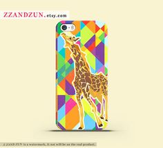 GEOMETRIC GIRAFFE iPhone 5 case iPhone 4s case iphone 5s case Galaxy S4 S3 Cover personalized phone case geometric iphone case Hard case on Etsy, $16.99