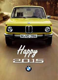 Happy New Year! BMW | classic cars | classic BMWs | 2015 | New year | yellow cars | cars