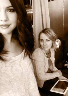 "Selena is @postcarding ""Basia and Selenka at it again."""