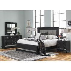 Find This Pin And More On Bedroom Furniture Diva Midnight Black King