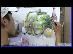 기초수채화 오이채색과정 [금천본원 미도움미술학원] - YouTube Gouache Tutorial, Water Brush, Object Drawing, Watercolour Tutorials, Art Portfolio, Art Lessons, Still Life, Watercolor Paintings, Illustration