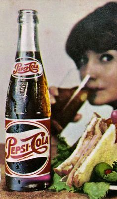 """""""Pepsi for those who think young"""". Old Advertisements, Retro Advertising, Retro Ads, Vintage Ads, Vintage Posters, Vintage Photos, Pepsi Ad, Coke, Soda Bottles"""