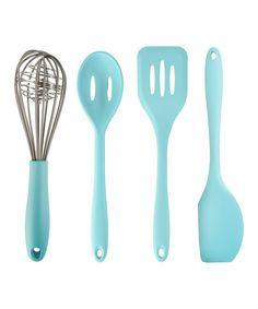 Take a look at this Blue Silicone Spatula Set today!