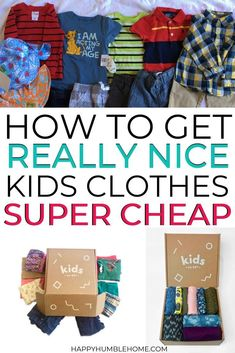 Oct 15, 2019 - Learn about the high-quality, cheap, used kids clothes solution for frugal mamas: Kids on 45th! Everything you need to know about how it works...