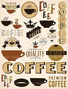 Café imágenes prediseñadas elementos  expreso Digital Clip