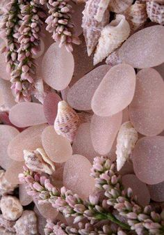 pink sea glass x lavender buds x little shells Dusty Rose, Dusty Pink, Nude Pink, Tout Rose, Everything Pink, Home And Deco, Sea Glass Jewelry, Pink Aesthetic, My Favorite Color