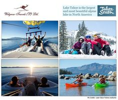 Welgrow Travels Private Limited is an established luxury travel destinations management company, which has been providing luxury tour and trip, since Travel Tours, Travel List, Travel Destinations, Tahoe California, Alpine Lake, South Lake Tahoe, Lake Life, Luxury Life, Water Sports