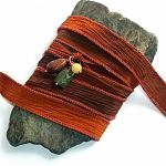 Rustic Copper Silk Ribbon Wrap