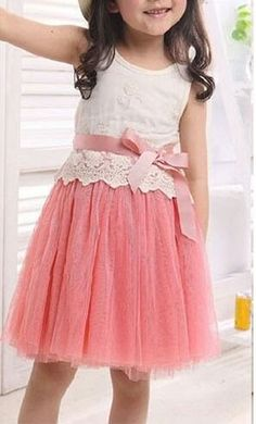 Nice colour with lace finish in top and long skirt would be more beautiful. Little Girl Outfits, Little Girl Fashion, Little Girl Dresses, Kids Outfits, Kids Fashion, Baby Girl Dresses, Baby Dress, Cute Dresses, Flower Girl Dresses