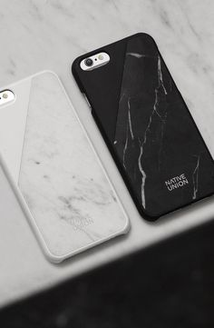 CLIC Marble in Black and White. The Native Union marble iPhone case is made with real marble to give your phone a luxury element.