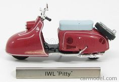 EDICOLA 7168116 Scale 1/24  IWL PITTY 1956 SCOOTER RED