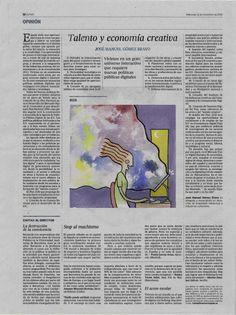 Trabajo de ilustración editorial para la asignatura de Ilustración aplicada al diseño.Técnica libre (mínimo bocetos con técnicas tradicionales), a color. El texto a ilustrar ha sido predeterminado y el tamaño es el mismo que el que ocupaba la ilustración original del periódico.