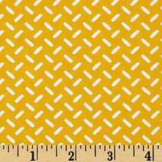 Ruff N Tuff Tic Tacs Yellow from @fabricdotcom  Designed by Sleepy Tree for Robert Kaufman, this cotton print fabric is perfect for quilting, apparel, crafts, and home décor items. Colors include yellow and white.