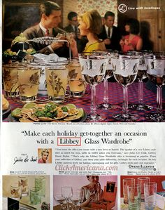 See more! Libbey drinking glass designs from the sixties
