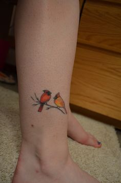 Male And Female Cardinal Tattoo Cardinals and red sox
