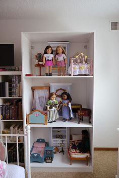 I've known since I started collecting American Girl that I was going to need something HUGE to display my dolls and their gigantic furniture...