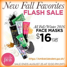 Check this Flash Sale out!! This is great one! Get yours today before the sale runs out! I also wanted to point out that the Apricots Over Night mask is normally $22.00 not $18.00 so that is a great $6.00 savings. It is a great mask and loved by many already! Make sure you order it before 10 AM mountain time tomorrow!! https://AmberSanders.po.sh/