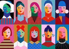 다음 @Behance 프로젝트 확인: \u201cGirls\u201d https://www.behance.net/gallery/46493867/Girls