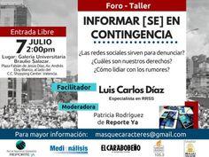 "Foro – Taller ""Informar [se] en Contingencia"" llega a Valencia http://crestametalica.com/foro-taller-informar-se-en-contingencia-llega-a-valencia/ vía @crestametalica"