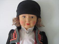 "Antique 18"" Ronnaug Petterssen Norwegian Folk Art Cloth Doll c1930'S   eBay"