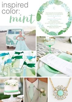 style board inspiration: mint wedding For more updates on this minty fresh trend go to http://www.arizonaweddings.com/