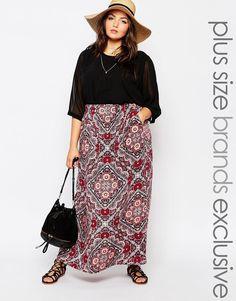 New Look Inspire Printed Maxi Skirt