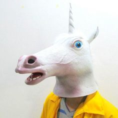 Hua Yang Creepy Unicorn Mask Latex Cosplay Animal Halloween Costume Mask Theater Prop New unicorn -- Awesome products selected by Anna Churchill Animal Halloween Costumes, Halloween Masks, Comic Con Cosplay, Best Cosplay, Pig Mask, Unicorn Mask, Latex Cosplay, Mask Images, Mask Template