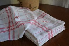 Vintage linen tea towels French Country by ForTheLoveOfFrance, $40.00