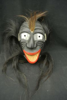 false face masks   59: Iroquois False Face Booger Mask circa 1940's-50's : Lot 59