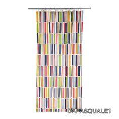 IKEA+NIDELVA+-+Shower+Curtain+Stripe+Multicolor+71+x+71+NEW