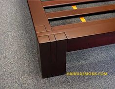 where to buy japanese bed frames | choose finish: dark walnut