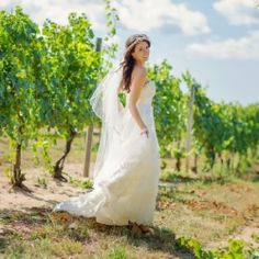 A dreamy winery wedding with a gorgeous bridal look.
