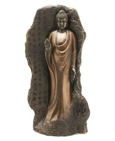 Stone Carved Design of Shakyamuni Buddha with Heart Sutra