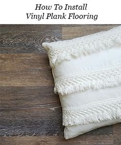 How to Fake A Chandelier & A Giveaway - The Honeycomb Home Porch Flooring, Basement Flooring, Kitchen Flooring, Flooring Ideas, Kitchen Countertops, Installing Vinyl Plank Flooring, Waterproof Laminate Flooring, Paint Linoleum, Linoleum Flooring