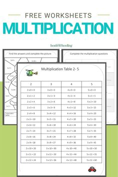 You need to grab these free transportation themed multiplication worksheets printable now. They are perfect to help reinforce the multiplication table 2- 5!