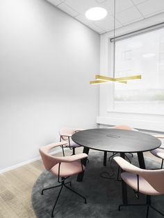 Anour Brass X Model hanging lamp - OFFICE PROJECT. Pic by Jeppe Sorensen