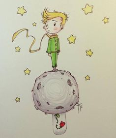 Little Prince. Which is based on a children book. The Little Prince Theme, Painting & Drawing, Watercolor Paintings, Cute Wallpapers, Art Drawings, Disney Characters, Fictional Characters, Sketches, My Love
