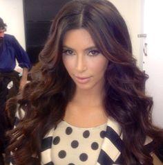 Would love to have Kim Kardashians hair on goSupermodel ;)