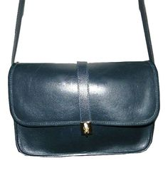 Vintage Michael Green Navy Blue leather satchel by FeliceSereno, $35.00 #michaelgreen #vintage