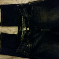 MAURICE SKINNY BOOT CUT JEANS Dark denim skinny boot cut! Worn only 3 times! Super comfortable and keeps it's shape! I actually own 3 pairs! Excellent condition! Maurices Jeans Boot Cut