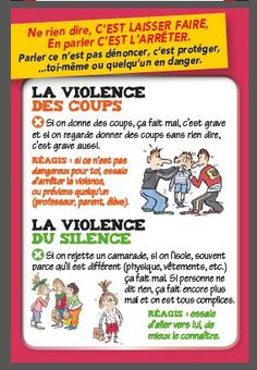 Agir contre le harcélement Bullying Lessons, Bad Teacher, Education Positive, Bullying Prevention, French Classroom, Anti Bullying, French Language, Positive Attitude, Affirmations